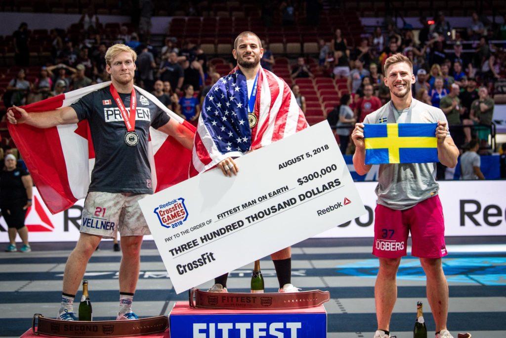 CrossFit Games 2018: il podio maschile