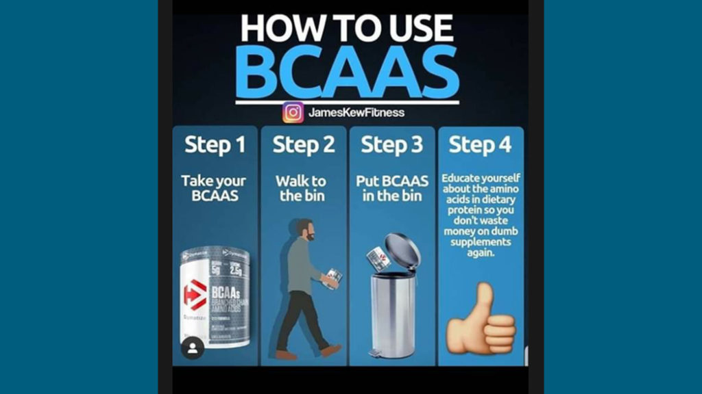 BCAA integratore inutile