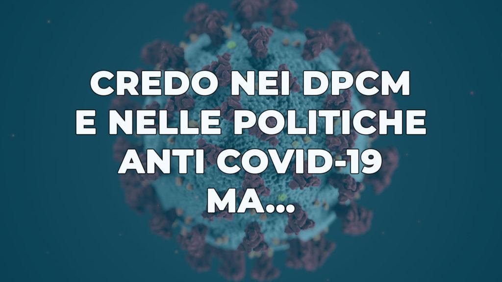 DPCM politiche anti Covid-19